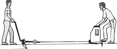 Пашня. Электроплуг ЛС-100А. Два человека (работник и помощник).